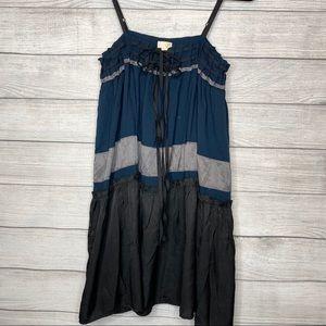 Ya Los Angeles Blue Black Sun Dress